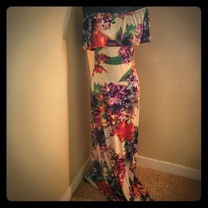 Maxi dress w/purse combo